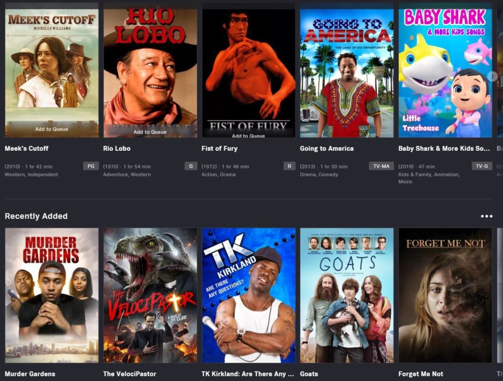 Watch Free Movies with Tubi Streaming Service