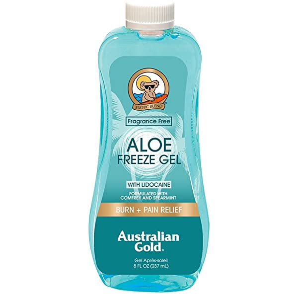 10. Australian Gold Aloe Freeze Spray Gel with Comfrey and Spearmint Extracts