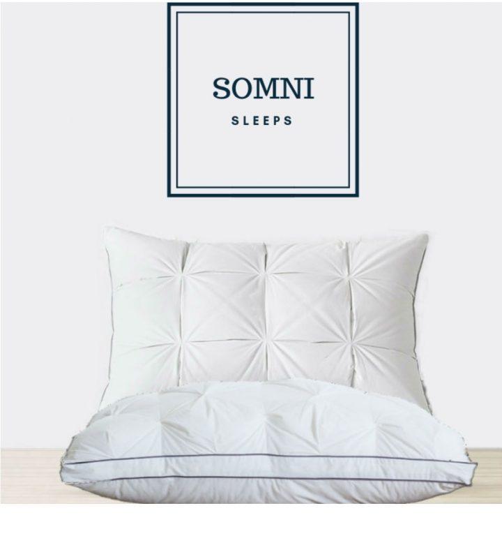 SOMNI Pillow Loft Fluffy Down