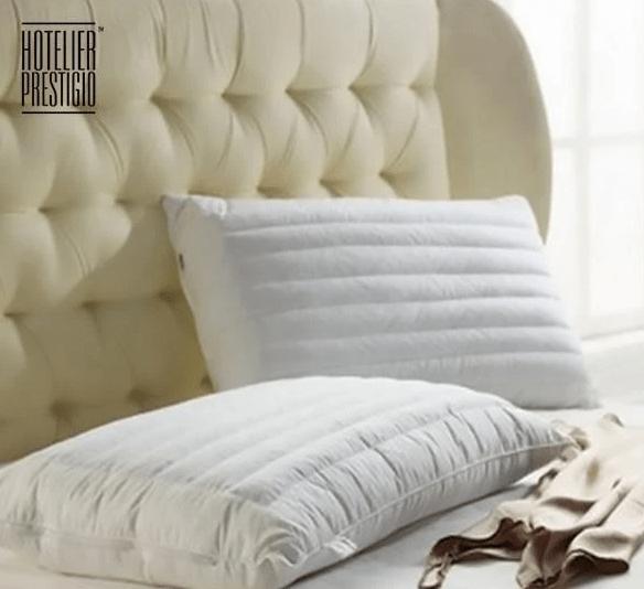 10. Hotelier Prestigio Down Alternative Buckwheat Pillow