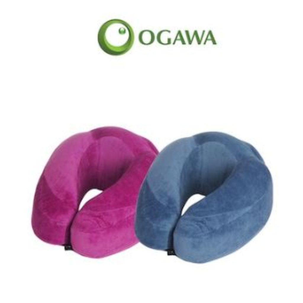 9. Ogawa Plush Touch Memory Foam Travel Pillow