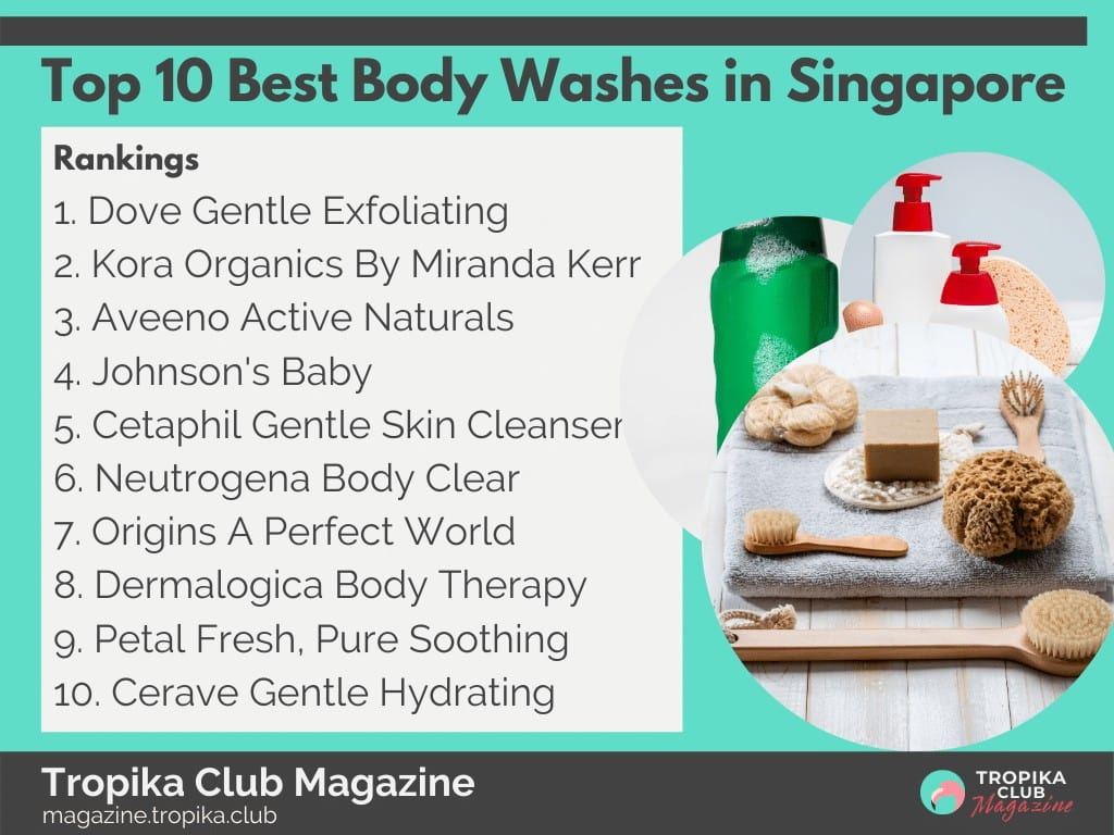 Top 10 Best Body Washes in Singapore
