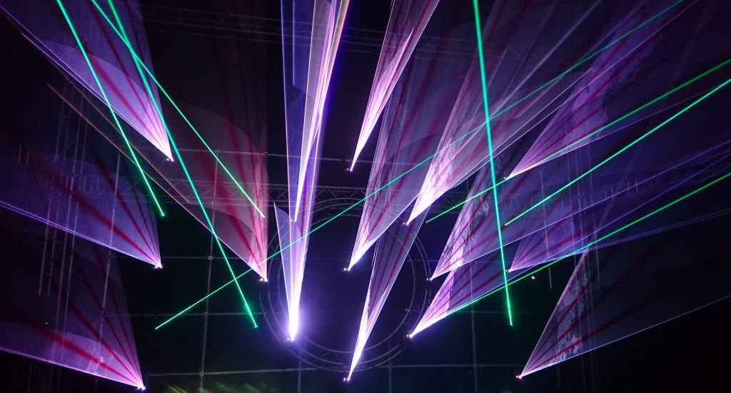 lightshow, laser, music