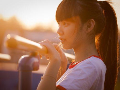 portrait, girl, asian