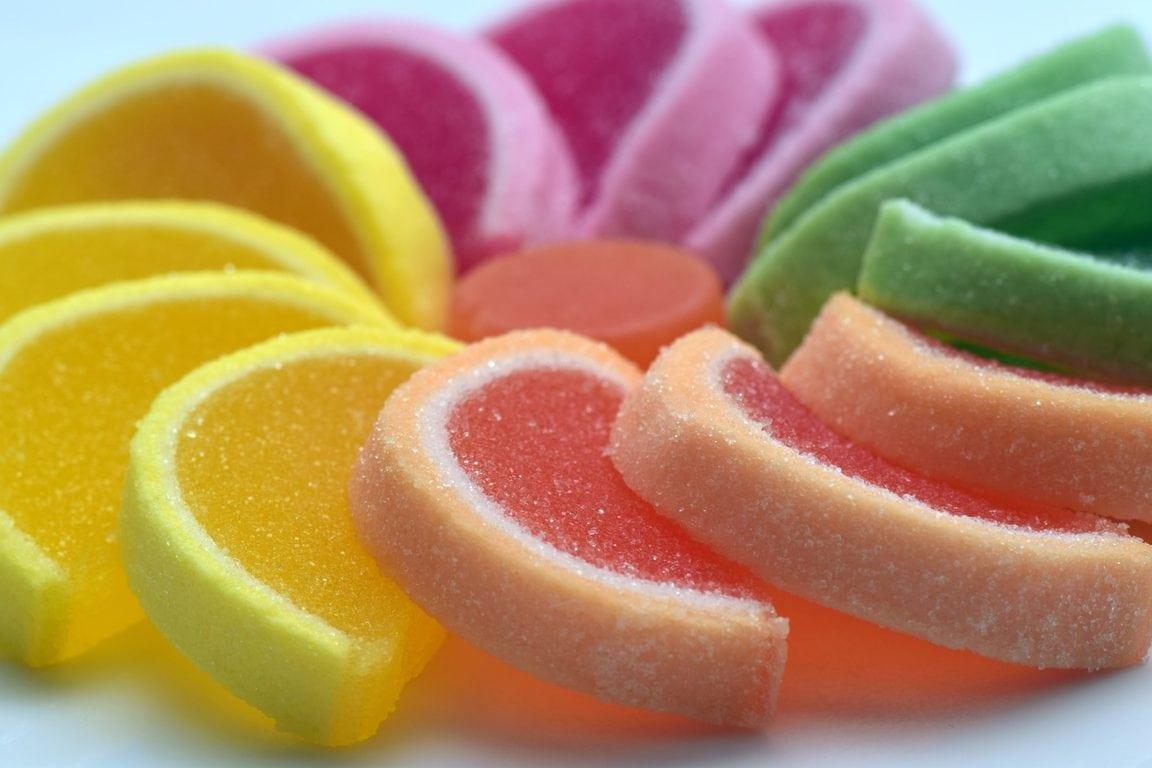 sugar, sweet, jelly fruit
