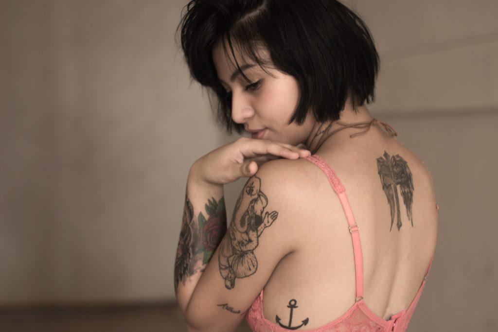 woman, tattoos, female