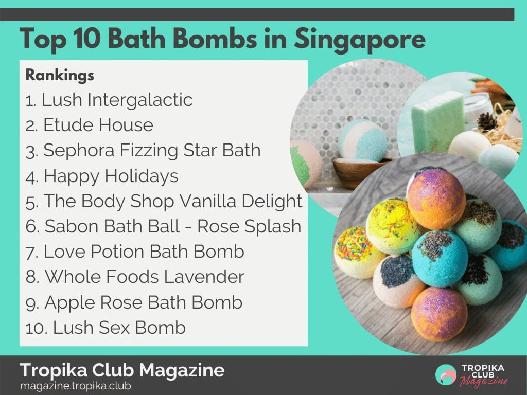 Top 10 Bath Bombs in Singapore