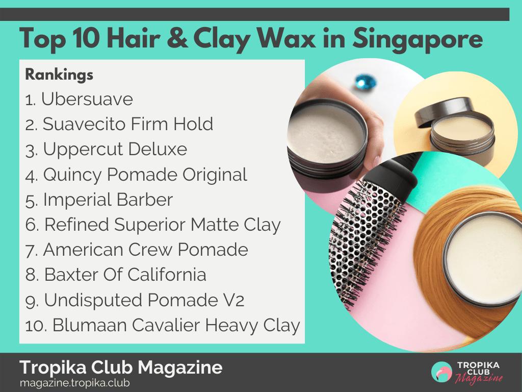 Top 10 Hair & Clay Wax in Singapore