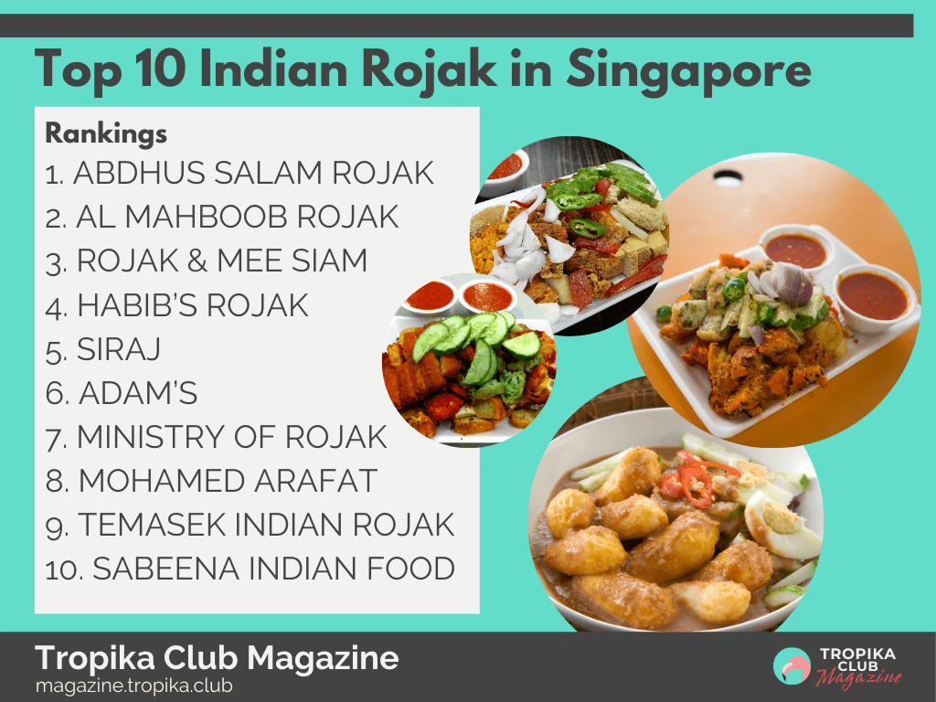 Top 10 Indian Rojak in Singapore