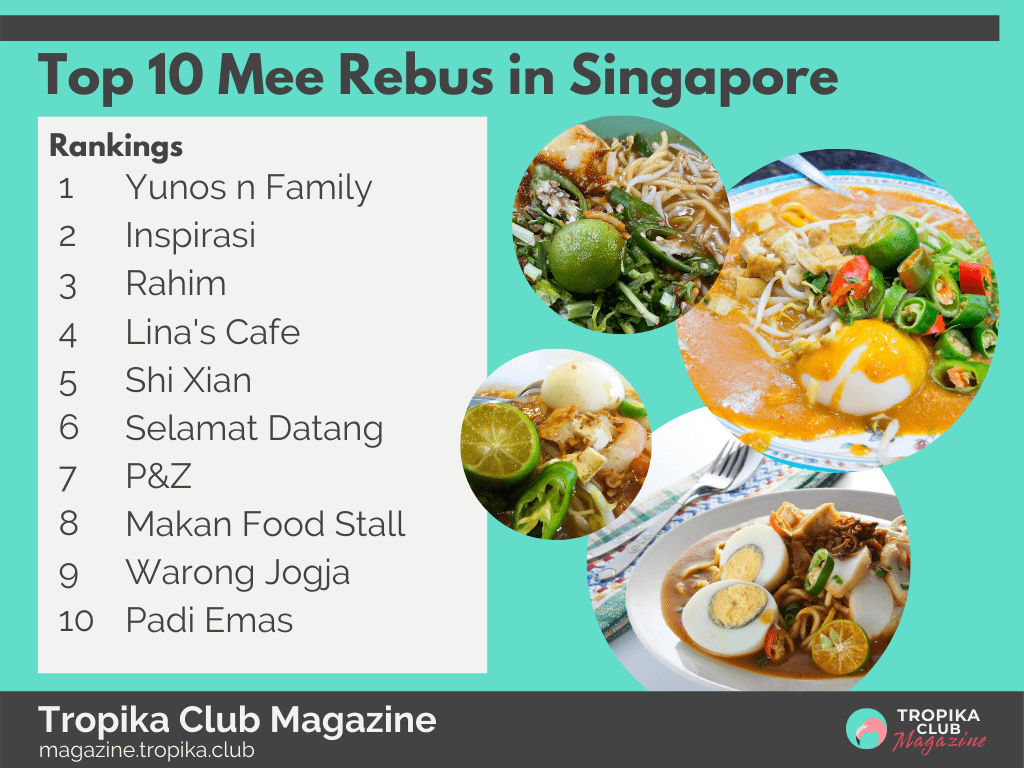 Top 10 Mee Rebus in Singapore
