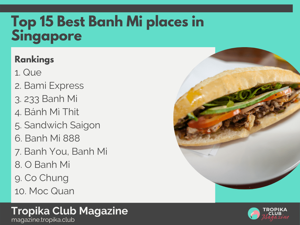 2021 Tropika Magazine Image Snippet - Top 15 Best Banh Mi places in Singapore