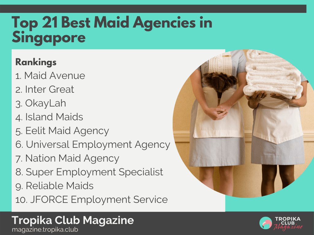 2021 Tropika Magazine Image Snippet - Top 21 Best Maid Agencies in Singapore