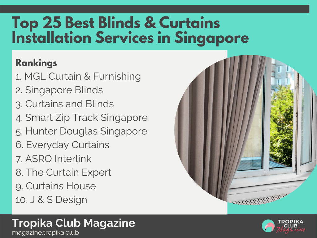 Top 25 Best Blinds & Curtains Installation Services in Singapore