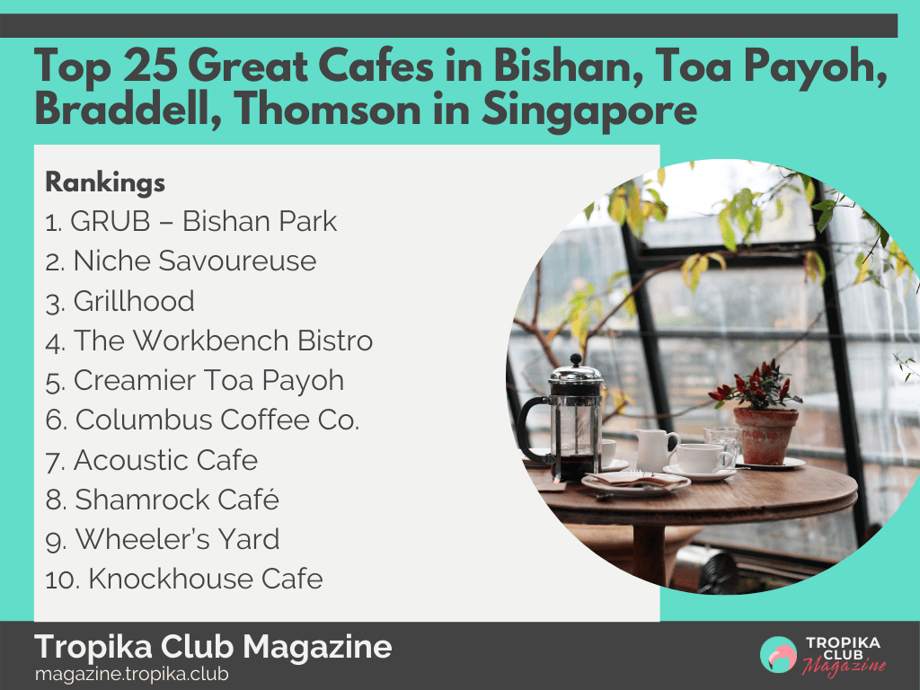 Top 25 Great Cafes in Bishan, Toa Payoh, Braddell, Thomson in Singapore