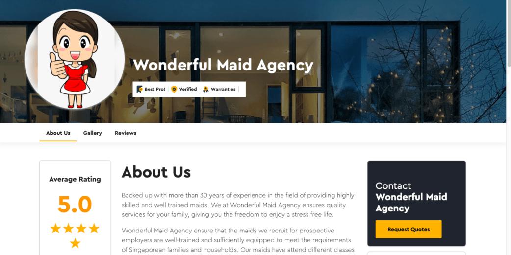 wonderful maid agency singapore - maid agencies in singapore