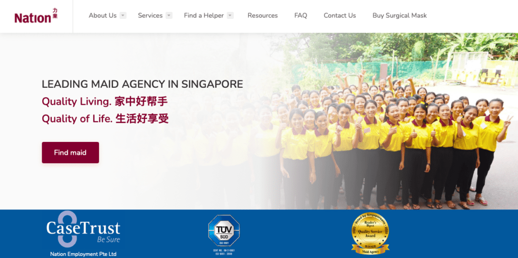 nation maid agency - top maid agencies in singapore