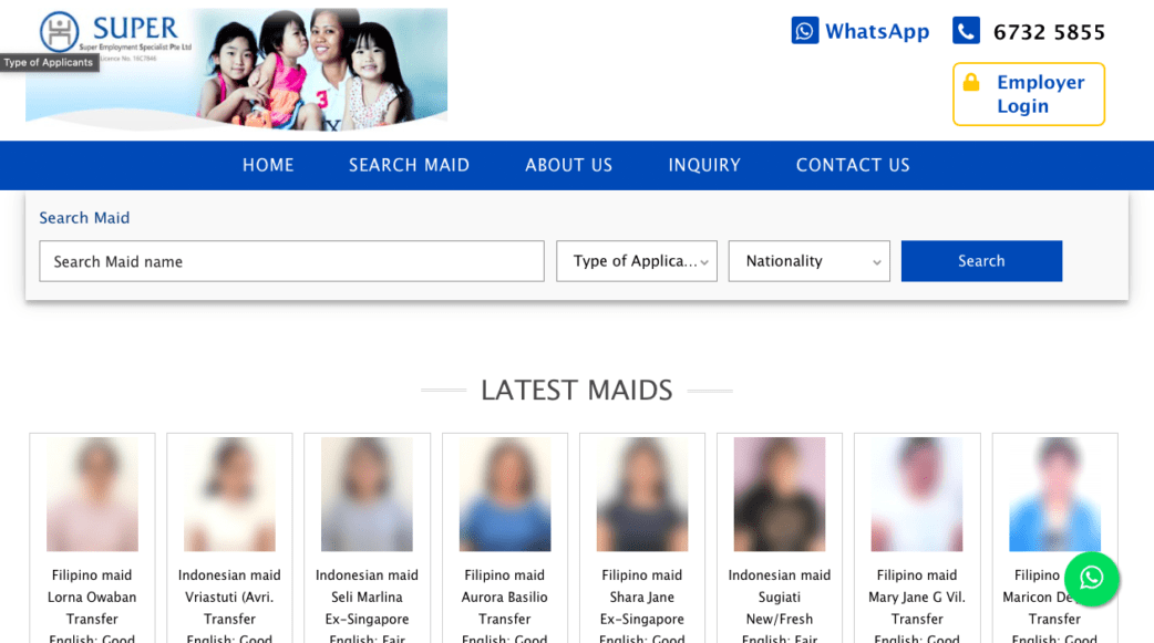 super employment specialist - best maid agencies in singapore