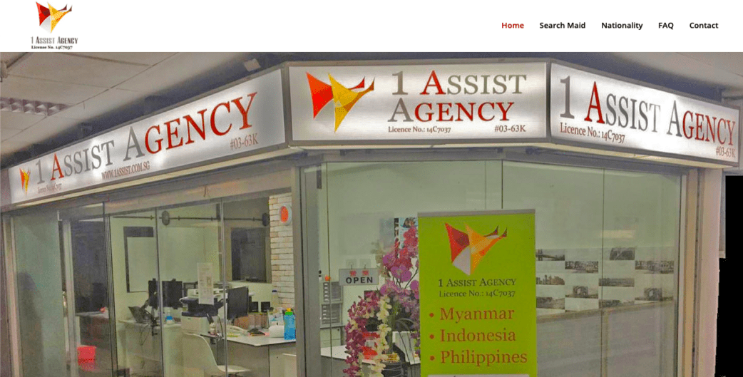 1 Assist Agency - best maid agencies in singapore