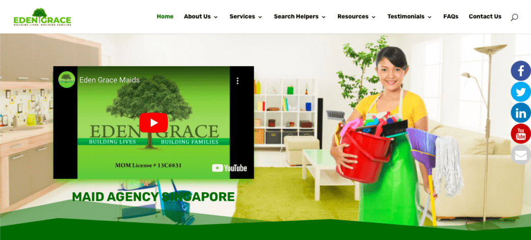 Eden Grace maid agency - best maid agencies in singapore
