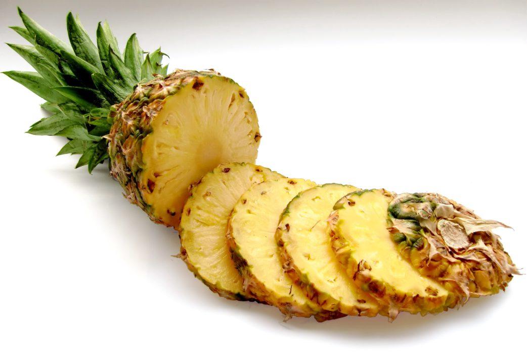 pineapple, slices, fruit