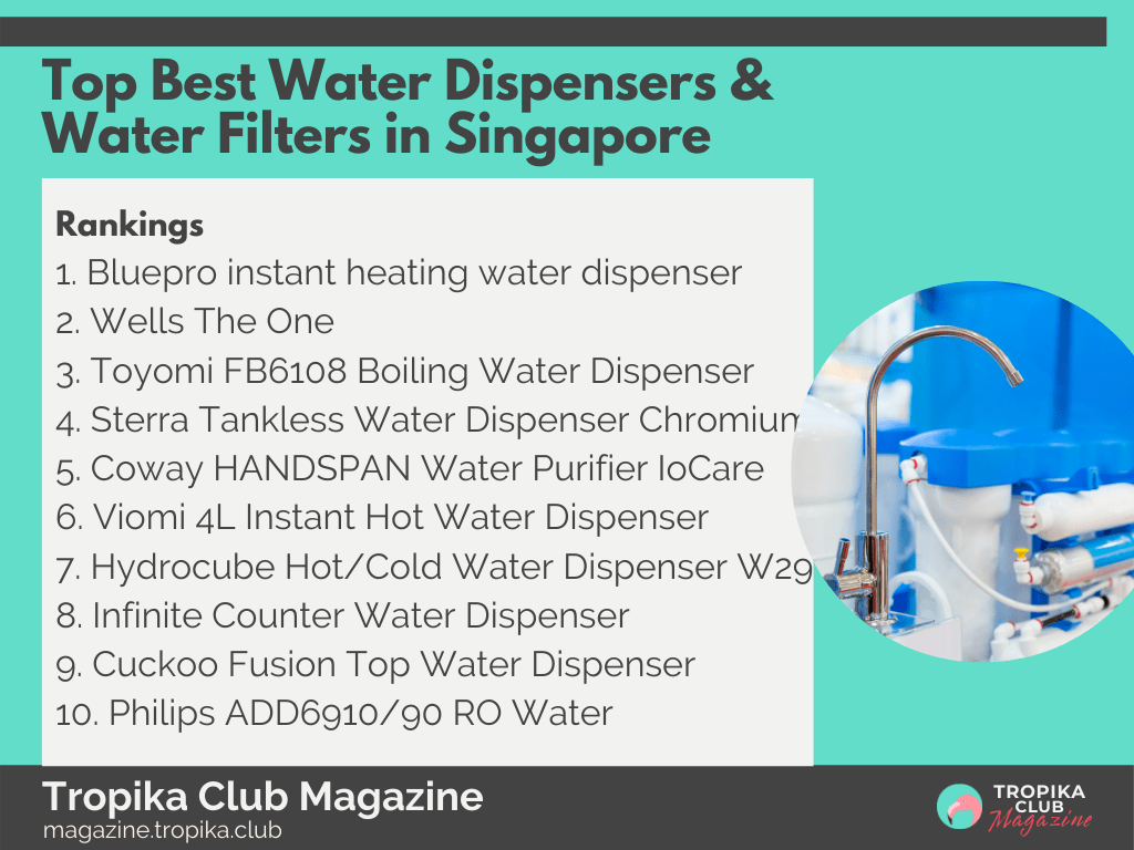 2021 Tropika Magazine Image Snippet - Top Best Water Dispensers & Water Filters in Singapore